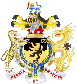 Knights vector knight coat arm. Order of the garter