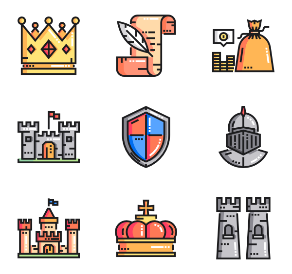 Knights vector psd. Knight icons free medieval