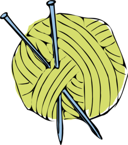 Yarn clipart craft. Free knitting needles cliparts
