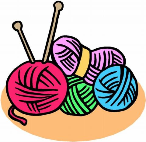 Yarn clipart knitting group. Knitters anonymous pemberville public