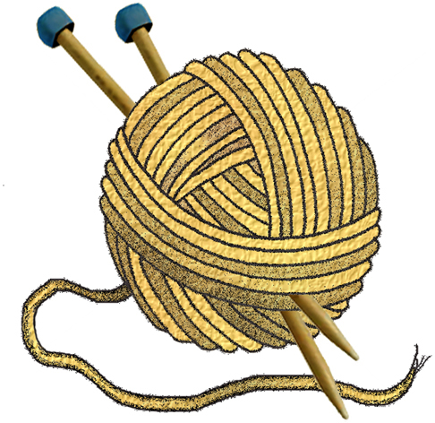 knitting clipart wool