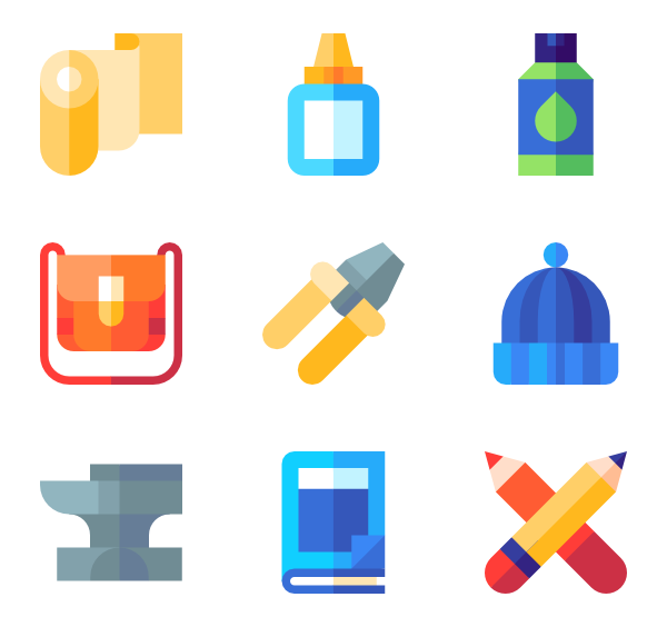 Knitting vector file. Icons free diy and