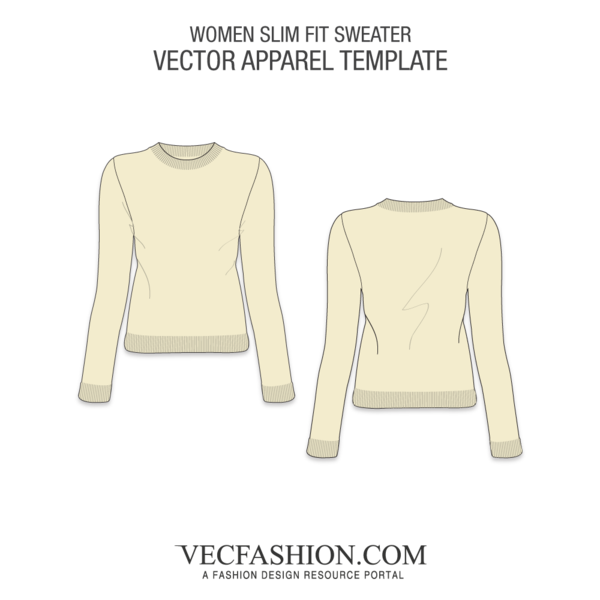 Knitting vector knit sweater. Slim fit knitted vecfashion