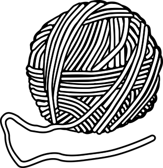 Knitting vector sketch. Needles drawing at getdrawings