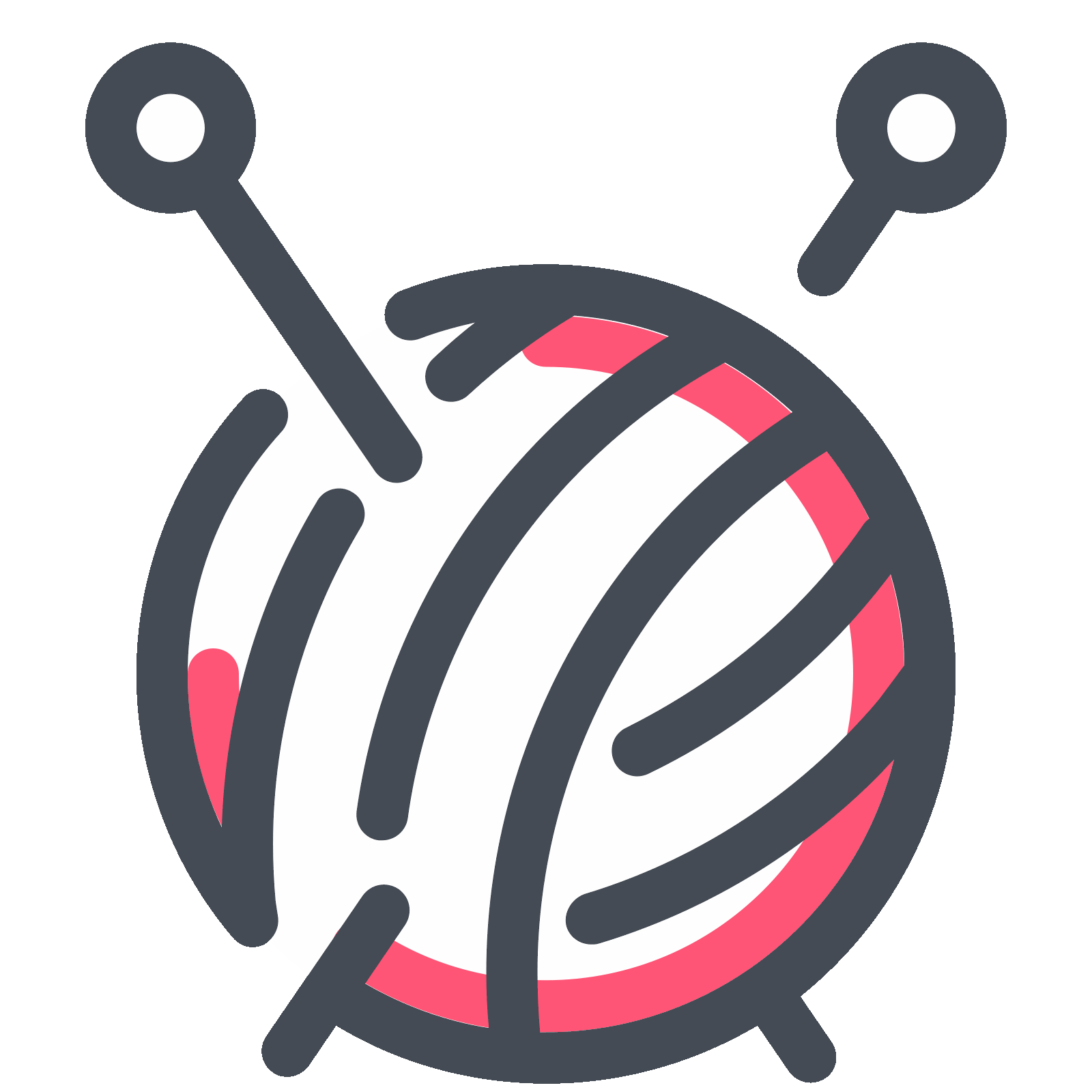Knitting vector ball yarn. Icon free download png