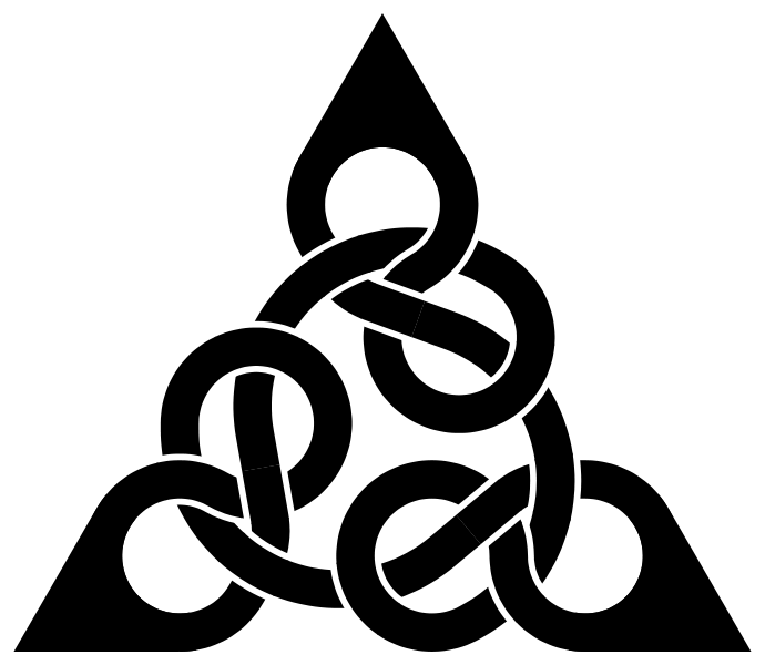 Knot clipart figure 8. File three triang svg