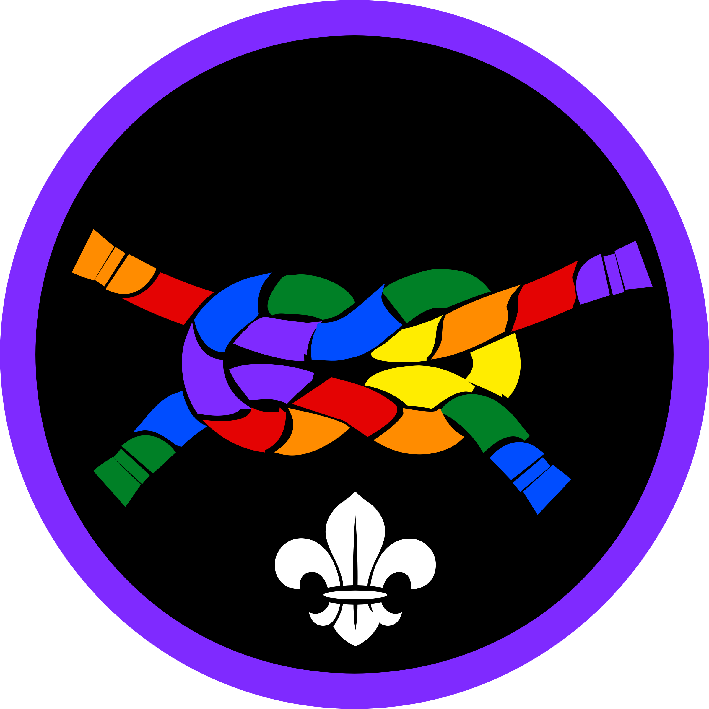 Knot clipart rainbow. Pride challenge merit badge