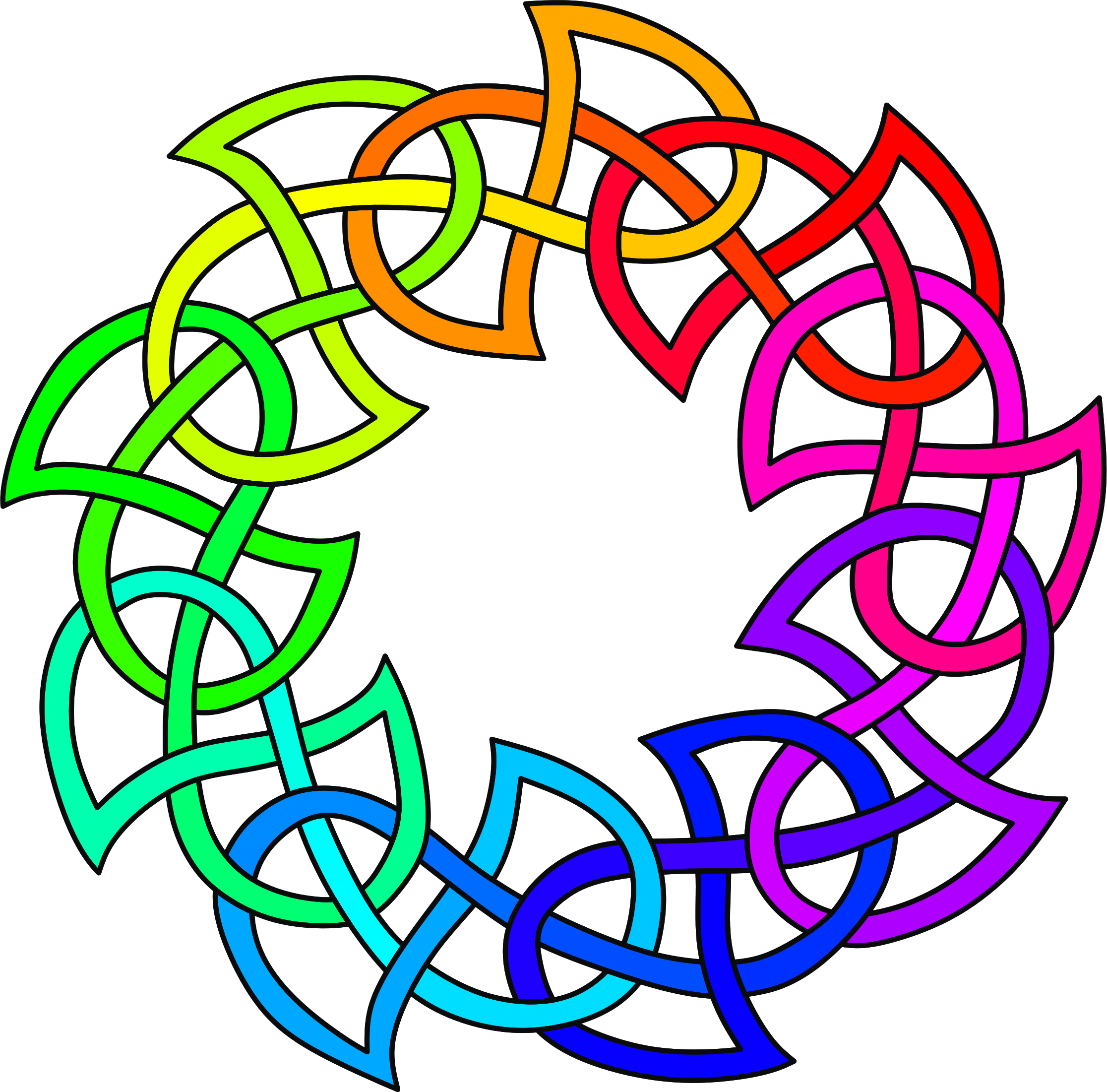 Knot clipart rainbow. Celtic colour big image