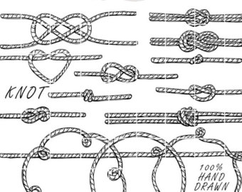Knot clipart western heart. Crowns doodle hand drawn
