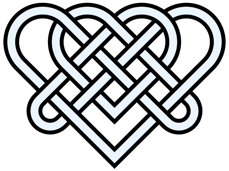 Knot clipart western heart. Free double hearts download