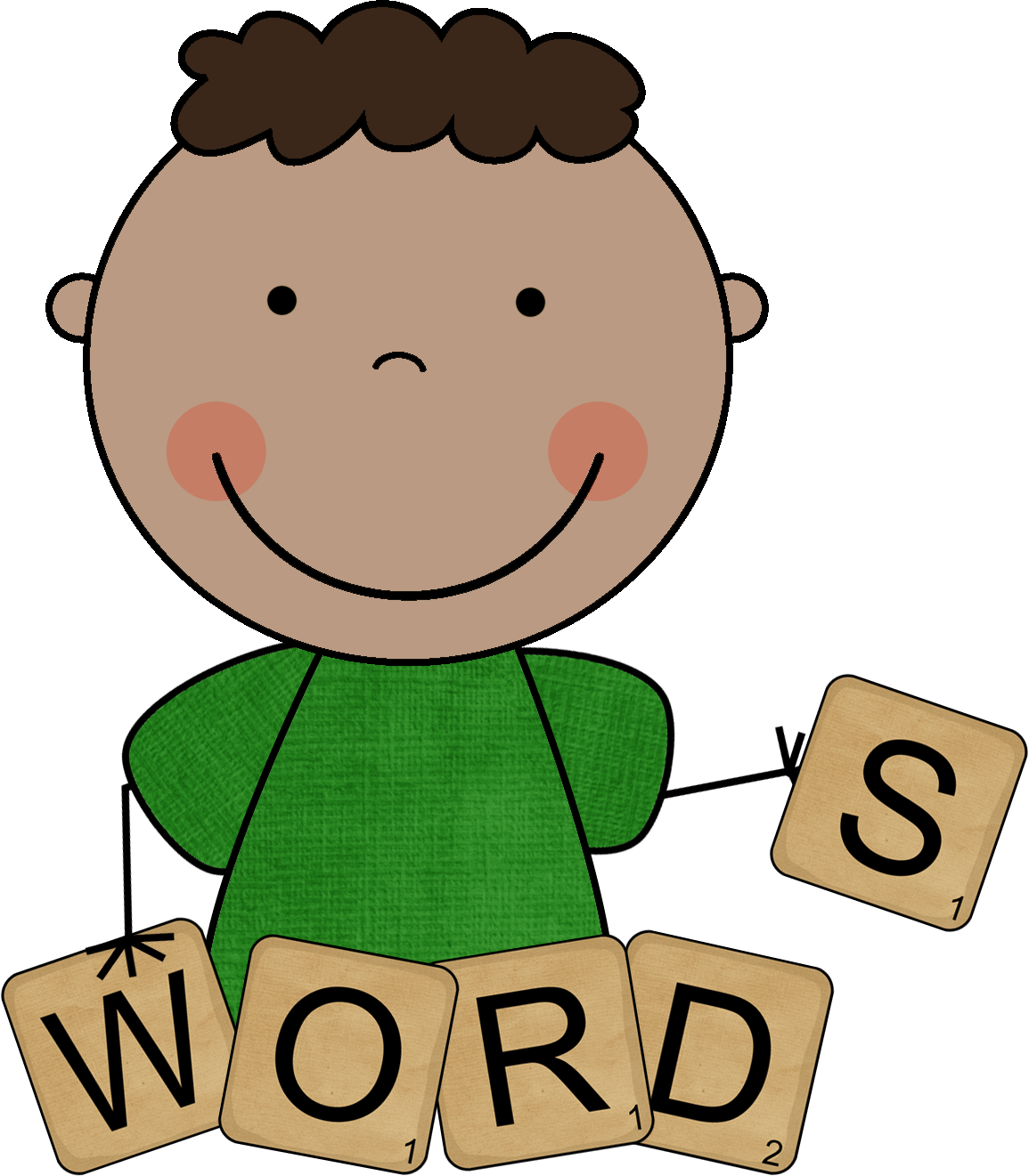 Knowledge clipart ability. Vocabulary word laughplayread wordfamilyclipart