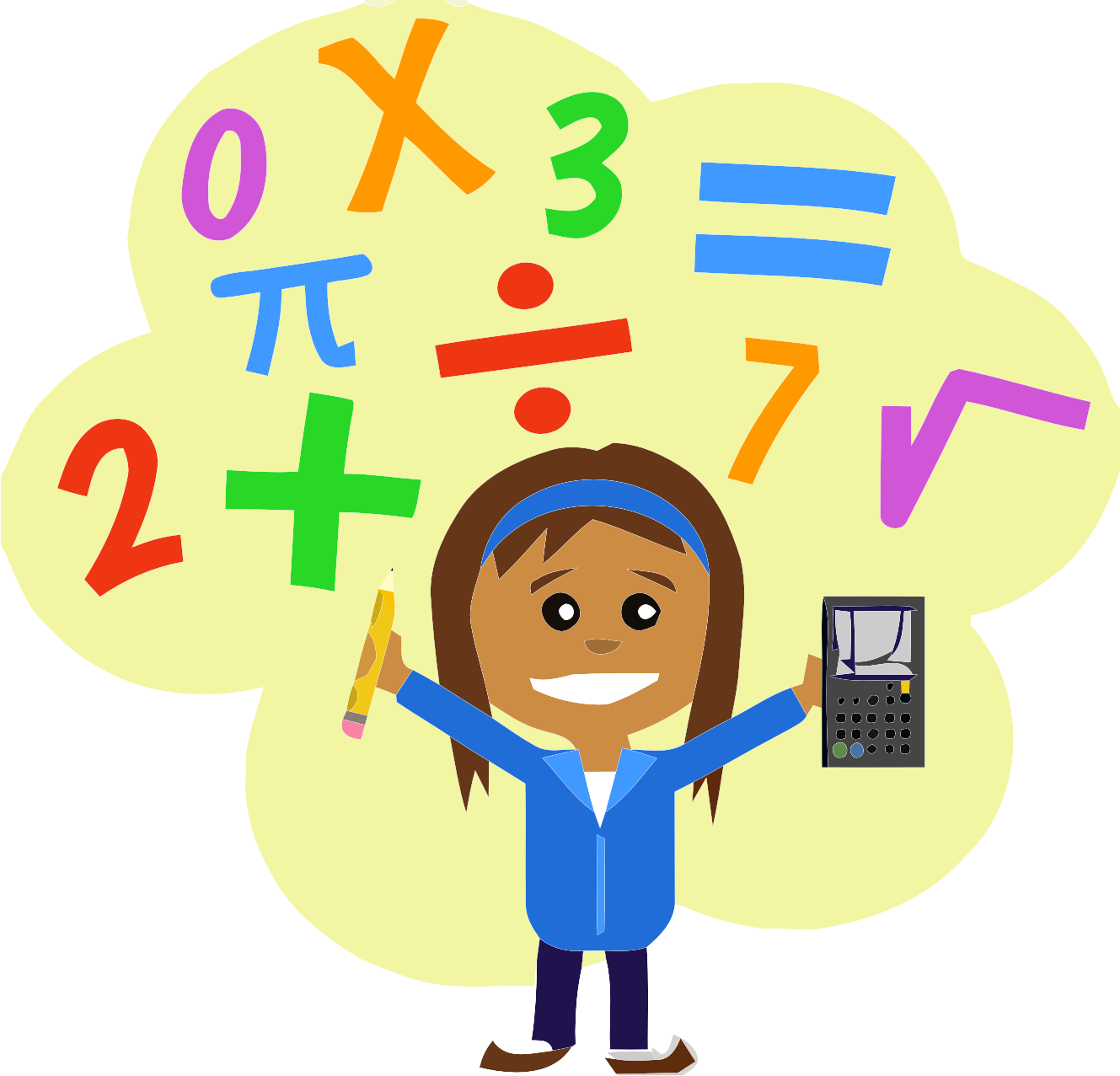 Multiplication clipart cartoon character. For free download and
