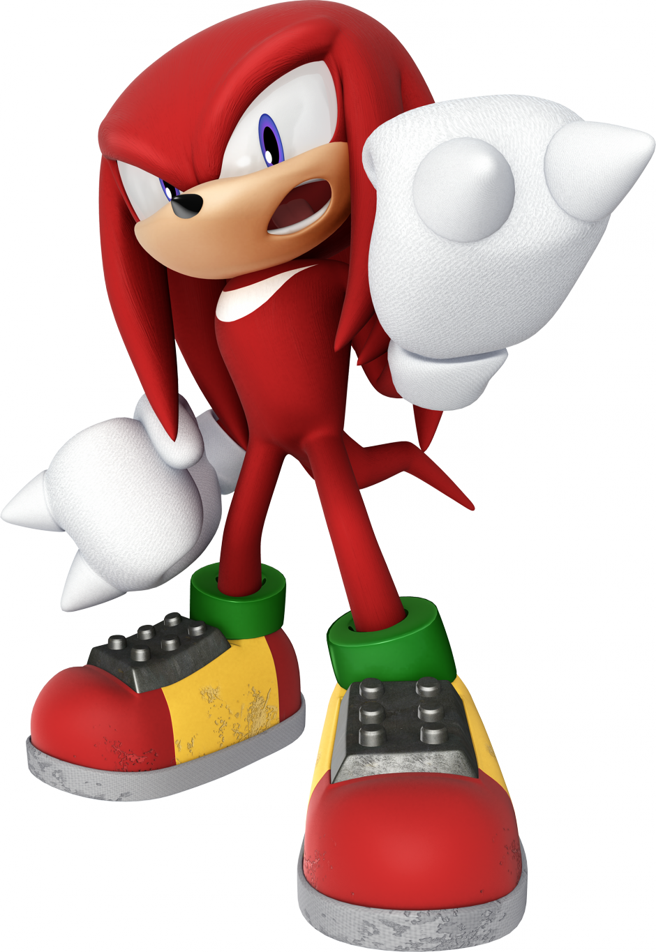 Knuckles .png. Image the echidna modern