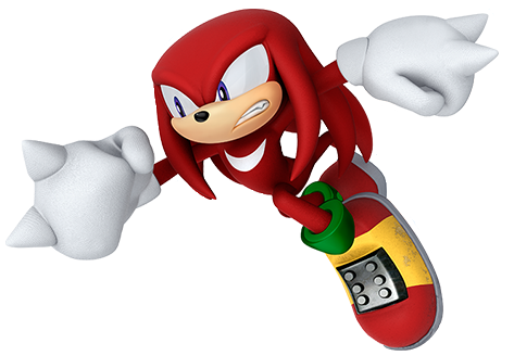 Knuckles .png. Image trading cards png