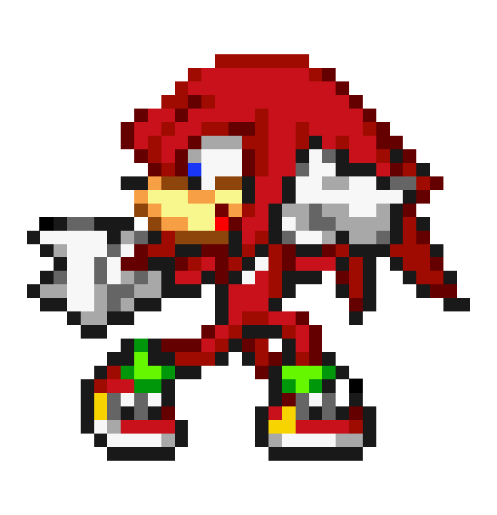 Knuckles sprite png. New look by terencebird