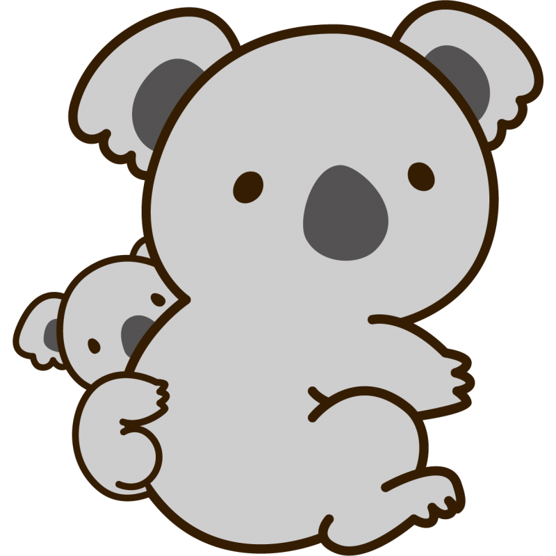 Koala bebe png. Baby stickers cute sticker