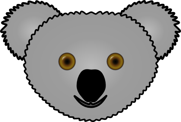 koala outline png