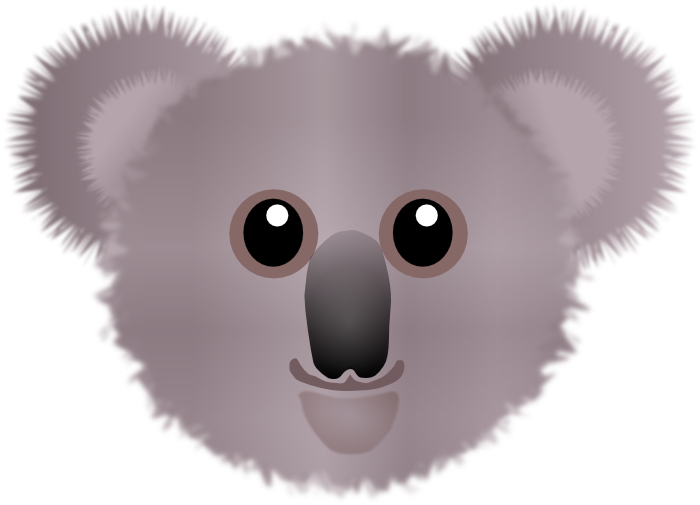 Koala clipart christmas. Graphics of koalas face