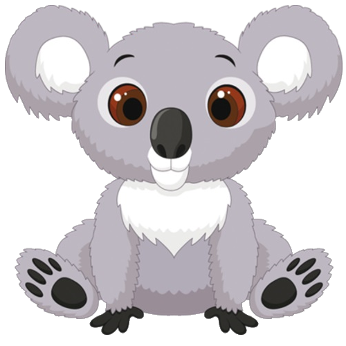 Koala clipart grey. Jamie images gallery for
