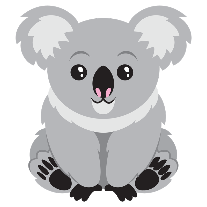 Koala clipart wildlife australian. Cute bear