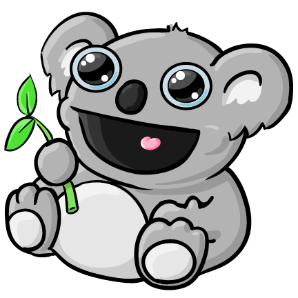 Koala clipart wildlife australian. Free animals download clip
