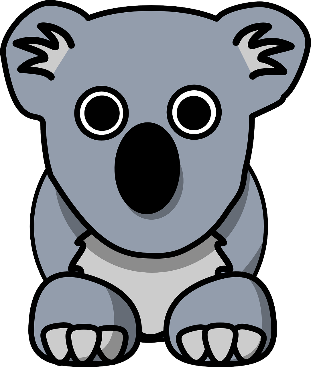 Koala clipart wildlife australian. Australia animal cute grey