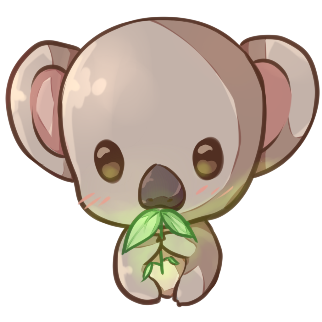 Koala drawing png. Kawaii copie by dessineka