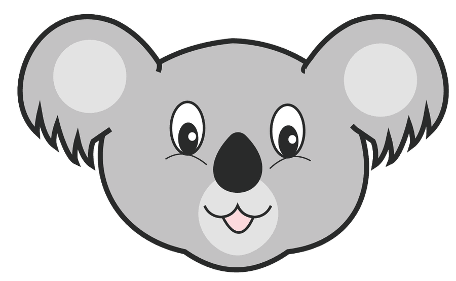Koala face png. Collection of clipart
