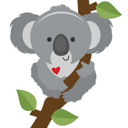 Koala silhouette png. On branch svg scrapbook