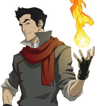 Korra transparent legend. Mako render firebender download