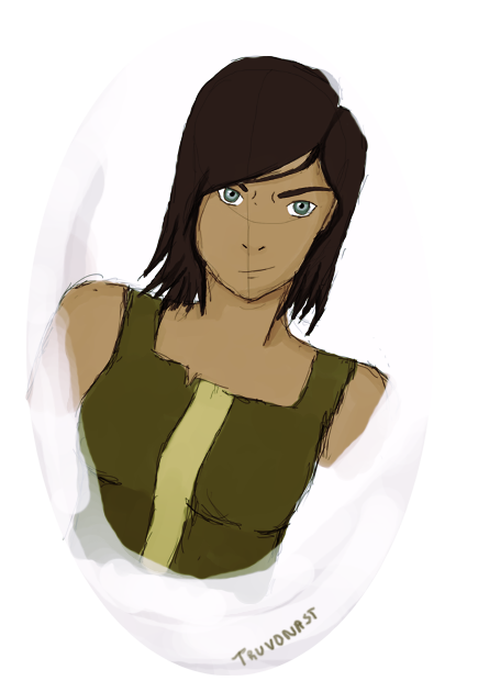 Korra drawing short hair. With by truvonast on
