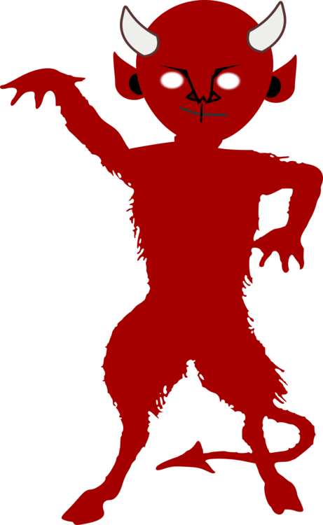 Lucifer devil satan silhouette. Demon clipart image transparent
