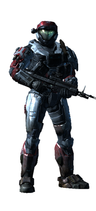 Odst drawing red. White black halo costume