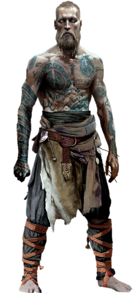 Kratos transparent gow4. Balder god of war