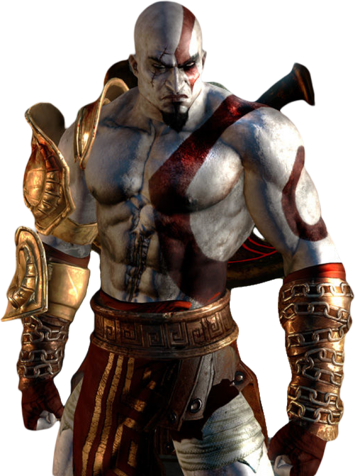 Character giant bomb . Kratos transparent shadow banner library stock