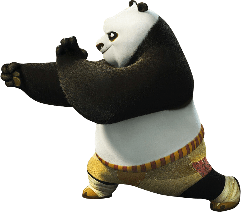 Kung fu panda png. Left fighting transparent stickpng