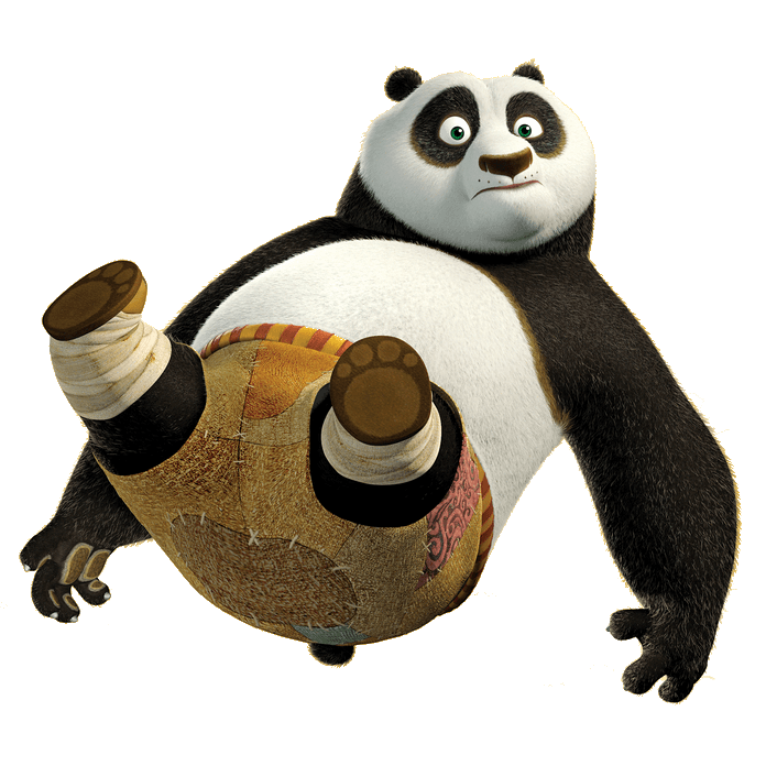 Kung fu panda png. Falling transparent stickpng download