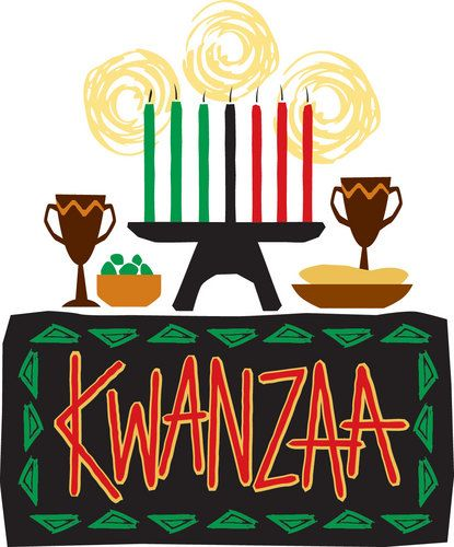 Kwanzaa clipart feast. Family festival at the