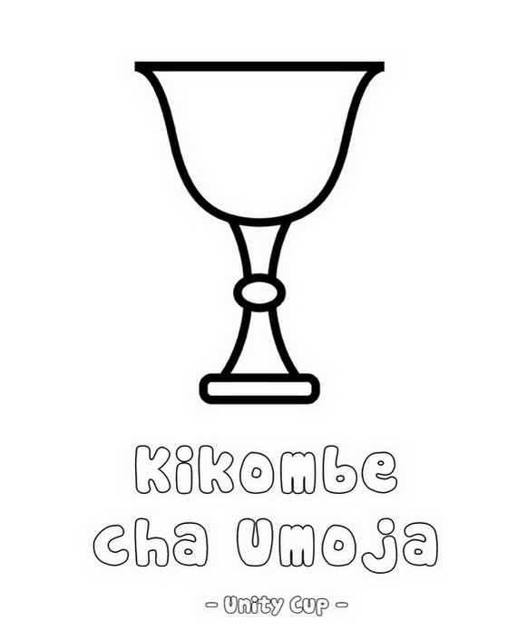 Kwanzaa clipart unity cup. December holiday coloring pages