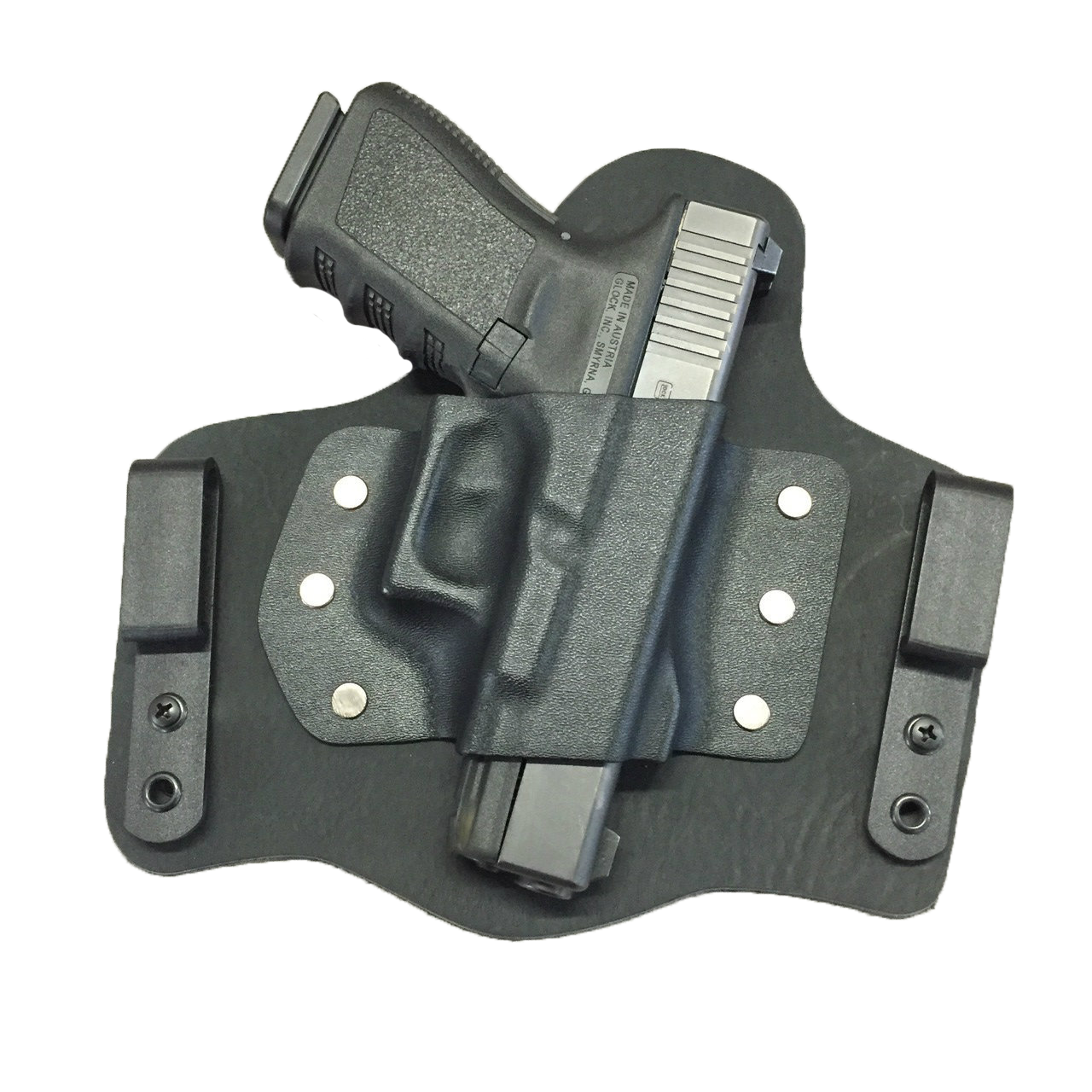 Kydex clip injection molded. Lima squared away customs