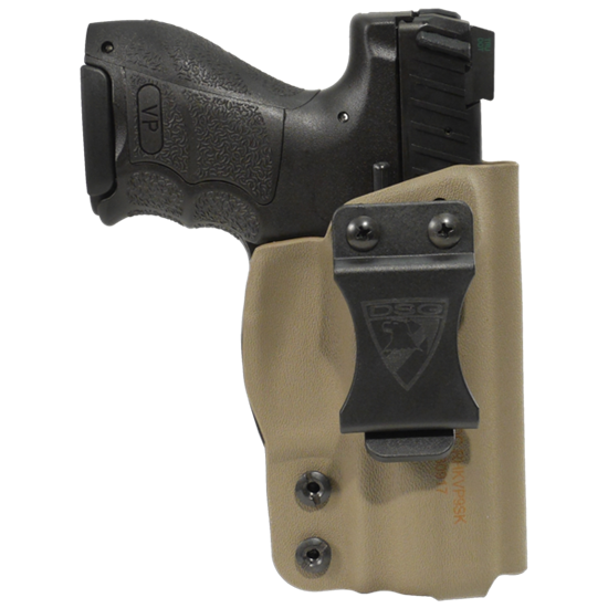 Kydex clip injection molded. Cdc holster hk vp