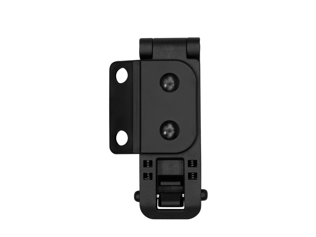 Mounting clip quick release. Attachment blade tech holsters