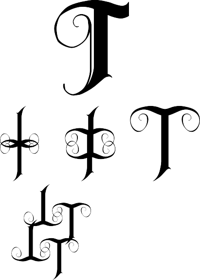 L clipart calligraphy. Scripty t letter projects