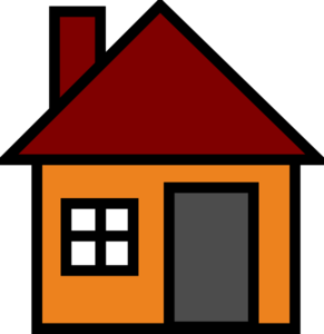 L clipart house. Orange clip art at
