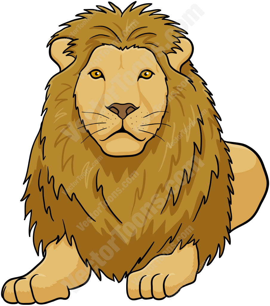 L clipart lion drawing. Lying down at getdrawings
