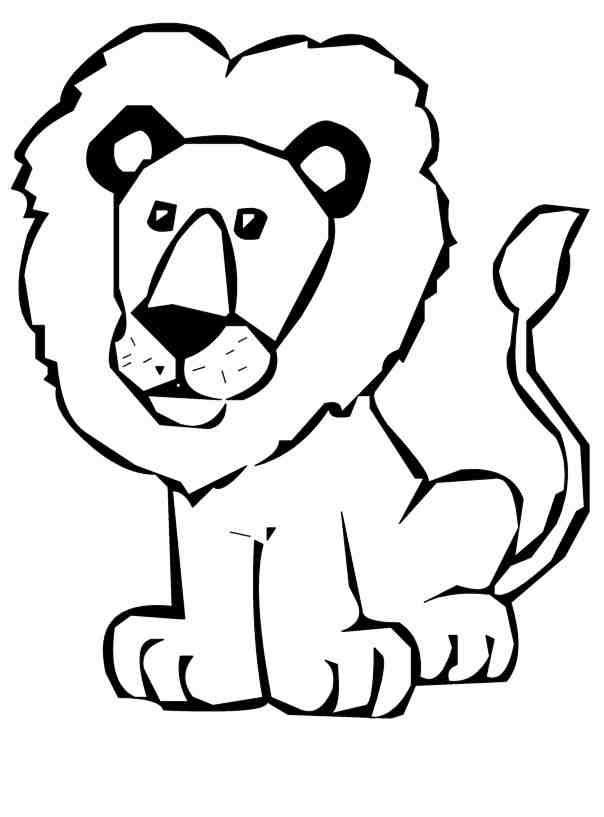 L clipart lion drawing. Cute at getdrawings com