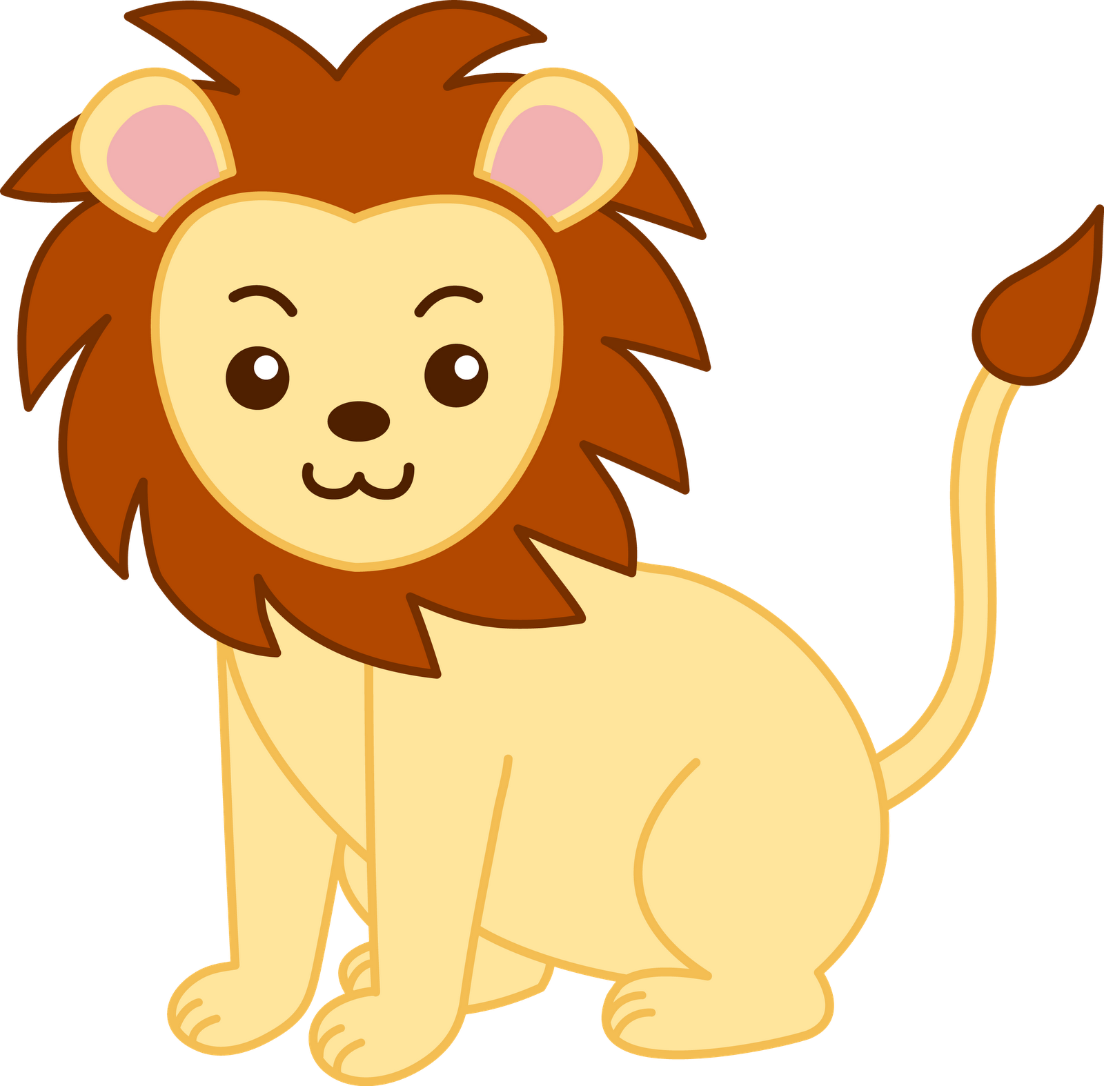 Lion clip males. Free cartoon drawings download