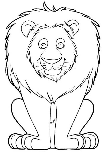L clipart lion drawing. Face easy at getdrawings