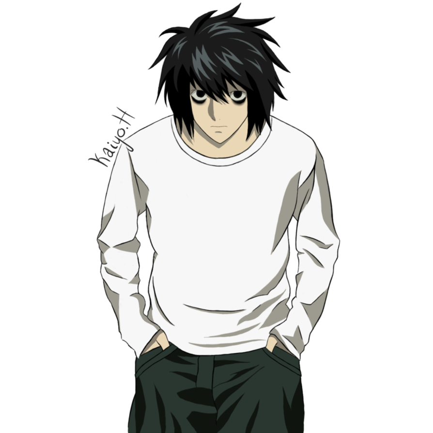L death note png. Lawliet cellshade by kaiyohikari
