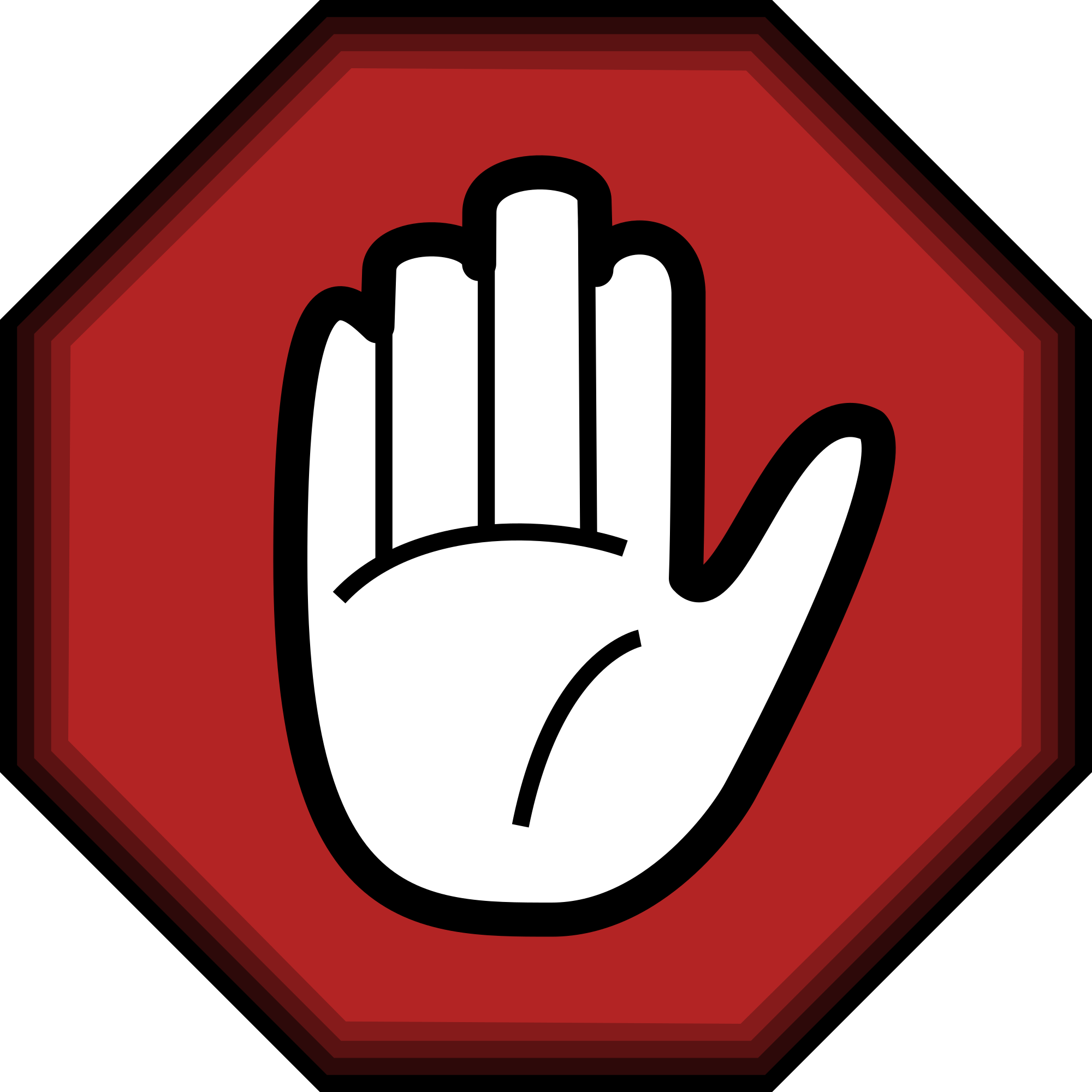 L hand sign png. File stop svg wikimedia